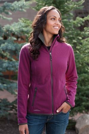 ad0eb7094 Eddie Bauer - Ladies Full-Zip Vertical Fleece Jacket. EB223